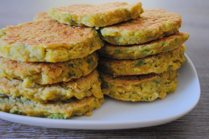 Galettes courgette gingembre
